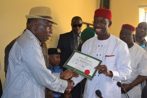 OKOWA, OTHERS RECEIVE CERTIFICATE OF RETURN FROM INEC