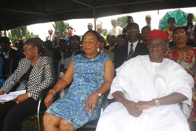 Chief Clement Ofuani, Director General, Delta State Capital Territory Dev. Agency, Hon. (Chief) Nkem Okwuofu, member Delta State Advisory and Peace Building Council, and a Special Guest during the occassion