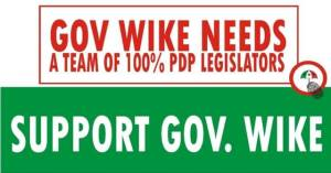 SUPPORT GOV WIKE IN THE RE-RUN ELECTIONS  ON MARCH 19, 2016