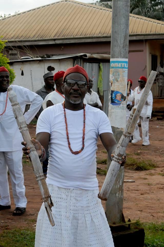 Mr Felix Mekwunye accidentally broke his precious Osisi staff.